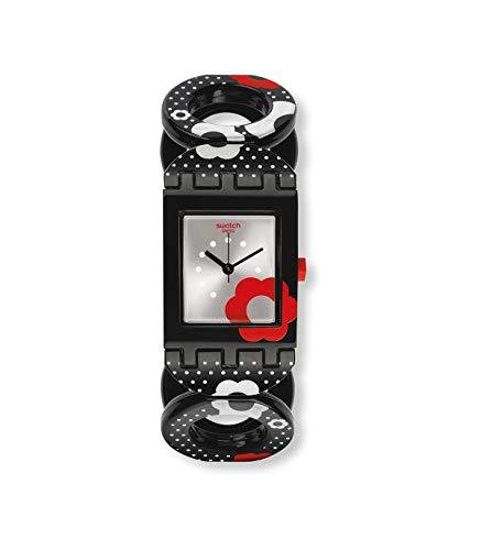 Swatch SUBB126B - Reloj de cuarzo suizo para mujer, plástico, color negro