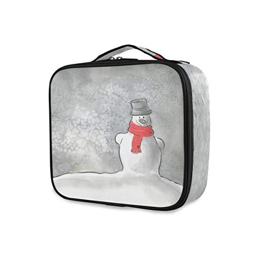 Toilettas, opbergmap, draagbaar, wintermaan, sneeuwpop, sjaal, reizen, make-uptas, gereedschap, cosmetische trein case
