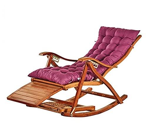 ZOUJIANGTAO Summer Bamboo Sedia Pieghevole Sedia reclinabile Sedia a Dondolo Lazy Sedia Lettino Sedia anziana Balcone Sedia Swing Sedia in Vimini (Color : B)
