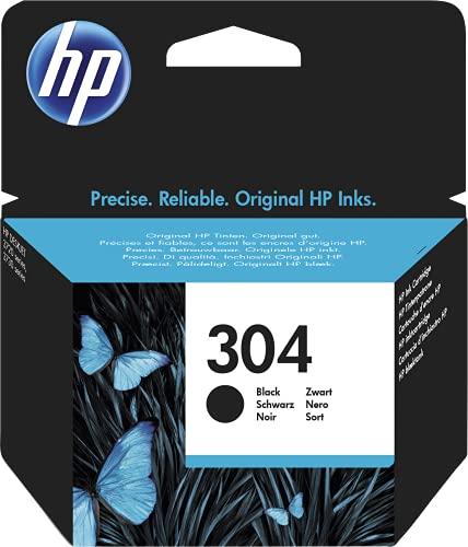 HP 304 N9K06AE Cartuccia Originale per Stampanti HP a Getto di Inchiostro, Compatibile con Stampanti HP DeskJet 2620 e 2630, HP Deskjet 3720, 3730, 3750 e 3760, HP ENVY 5010, 5020 e 5030, Nero