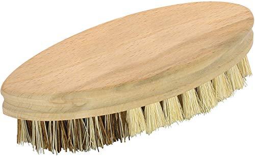 Fackelmann Reinigungsbürste FAIR, Scheuerbürste aus FSC®-zertifizierter Buche, Gemüsebürste mit widerstandsfähigen Borsten (Farbe: Braun), Menge: 1 Stück