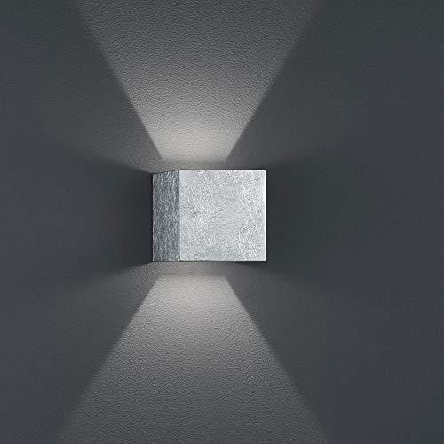 Helestra LED Wand-Außenleuchte Siri 44 IP54 520lm Blattsilber