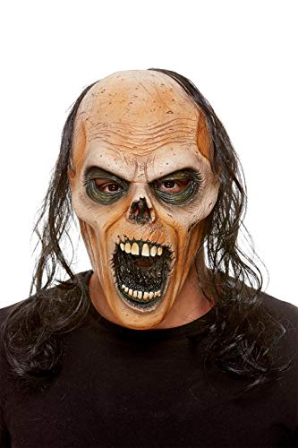 Smiffys 61115 Zombie Latex Mask, Unisex Adult, Brow