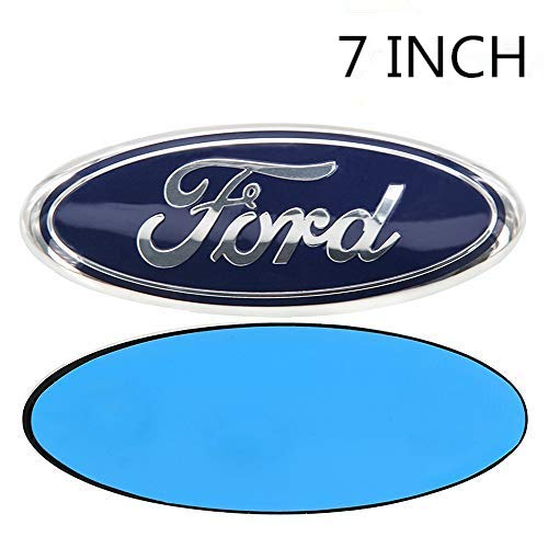 """1 Pcs 7"""" Dark Blue Front Grille Tailgate Emblem 3D Oval 3M Double Side Adhesive Tape Sticker Badge for Ford F-150 F-250 F350"""