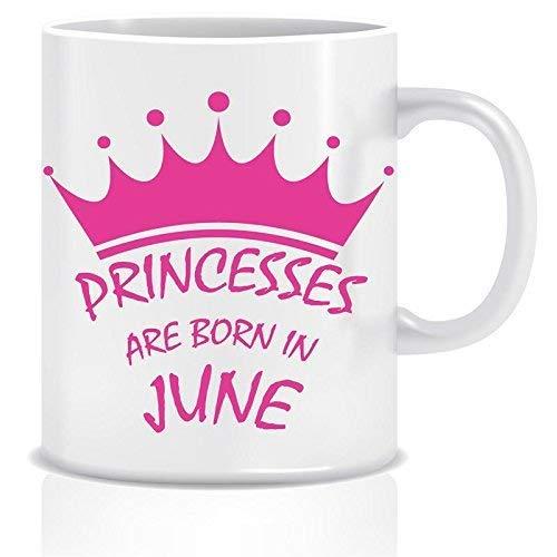 N\A Taza de café de cerámica con Tema de Princesa Nacen en Junio
