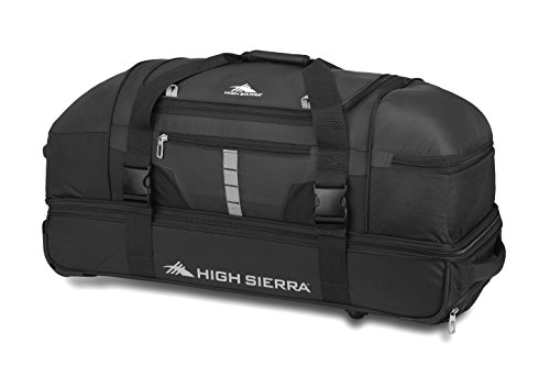 High Sierra Unisex-Adult (Luggage only) Evolution 30' Drop-Bottom Duffel Travel Bags, Black/Ash