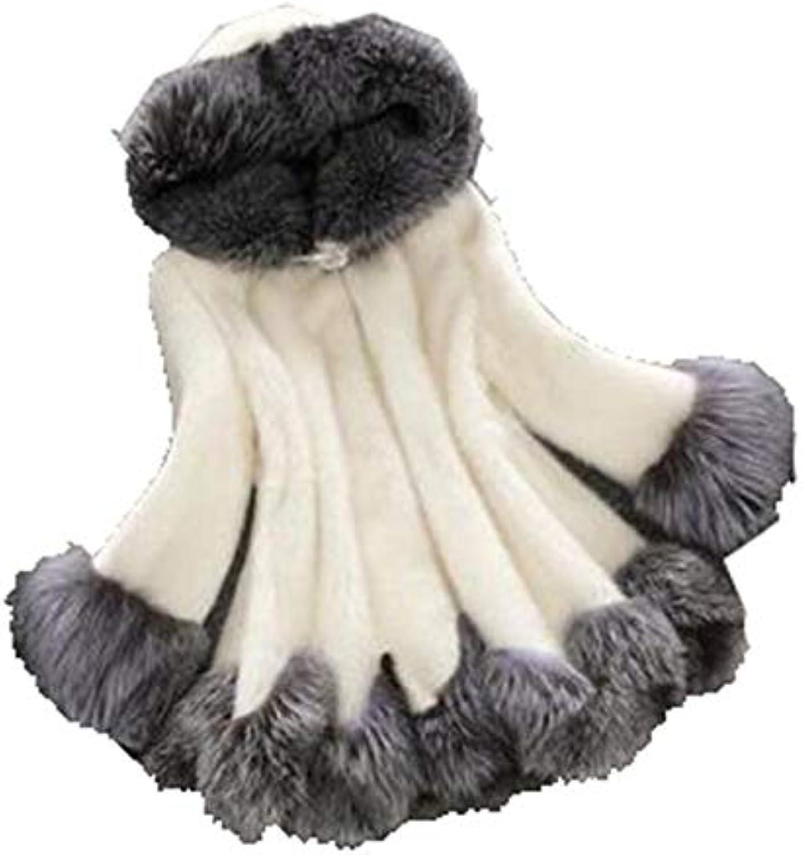 Womens Warm Korean Fur Warm Coats Faux Fur Overcoats Hooded Jackets
