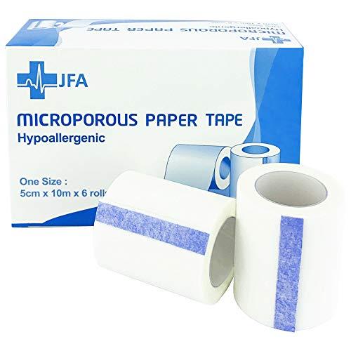 Microporous Medizinisches Klebeband, Erste Hilfe, 5 cm x 9,14 m, 6 Rollen