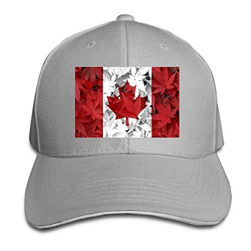 Gorra De Béisbol,Bandera De Canadá Hoja De Arce Canadiense,Sombrero De Deportes Al Aire Libre Idea Gorra De Náutica Moda Sombrero De Sol Classic Bent Peak Cap para Hombre Mujer