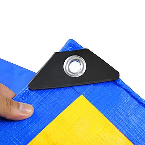 Lona Alquitranada Lona Gruesa Resistente, Lona Impermeable de Plástico PE con Ojales Reforzados, Hoja Amarilla Azul para Exterior Patio Pérgola Perrera Pabellón (Size : 5m × 8m)