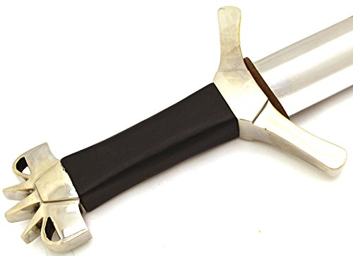 13th Century Full Tang Carbon Steel Medieval Sword w/Matching Sheath- Fully Functional Battle Ready Razor Sharp