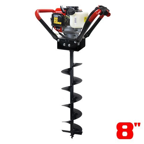 in budget affordable XtremepowerUS 1 person vertical giant screw excavator, V-Type 55CC, 2 stroke, recoil, starter head, excavator +…
