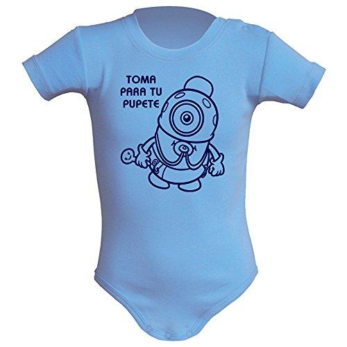 Body bebé unisex. Parodia Minios - Toma para tu pupete. Regalo original. Body bebé divertido. Body...