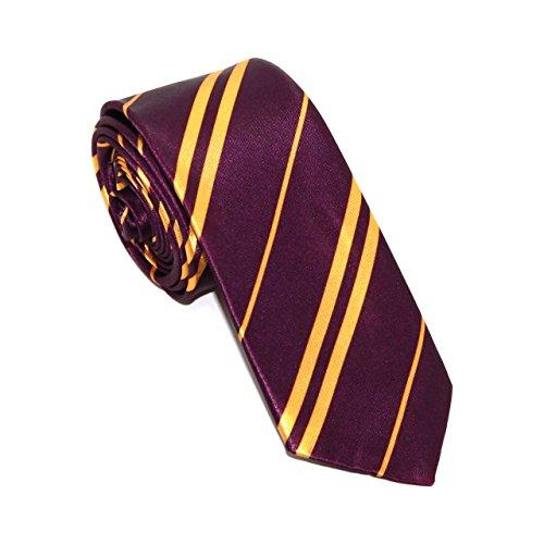 Corbata de colegio para disfraz de niños y adultos, color morado