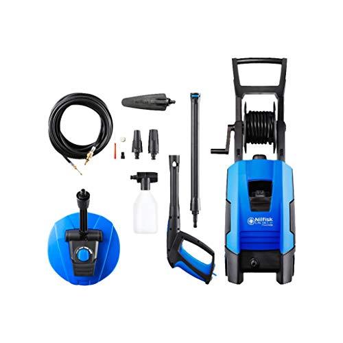 Nilfisk E 135 bar C-PG 135.1-8 XTRA PAD Hochdruckreiniger für Haushalt, Außenbereich, Autowäsche und Gartenarbeiten  – inklusive Terrassenreinigungsset – 1800-W-Induktionsmotor, 230 V (Blau)