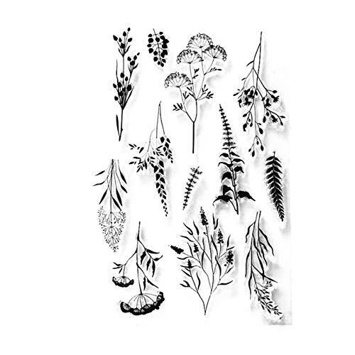 Arrietty Transparente Stempel mit Blumen und Blättern, für Karten, Dekoration, zum Basteln und für Bastelarbeiten