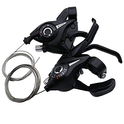 nJiaMe Shift Moto Palancas Bicyle 3x7 Speed ??Changer Shifter Conjunto de Artes de Ciclo Palanca de Cambios para MTB 2 Piezas de Bicicleta de Carretera