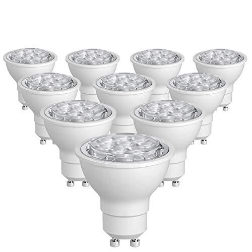 SUNTHIN 10 Pack Dimmable GU10 LED Bulbs 60W Halogen Bulbs Equivalent 6.5W 500lm GU10 Light Bulbs Daylight 5500K 38 Degrees Beam