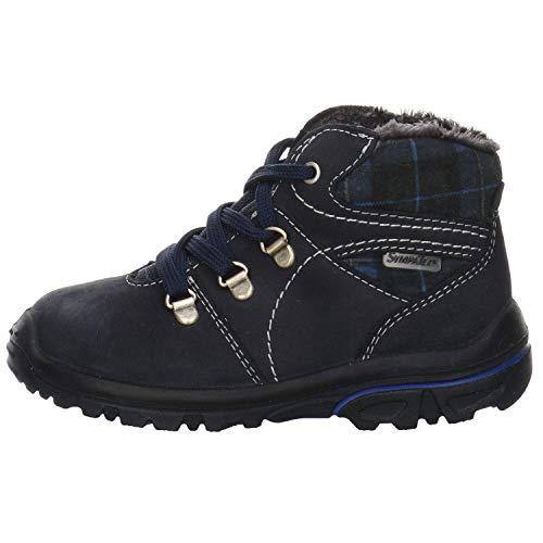 Ricosta Jungen Halbschuh Pepino Desse Boots Velour blau Gr. 25