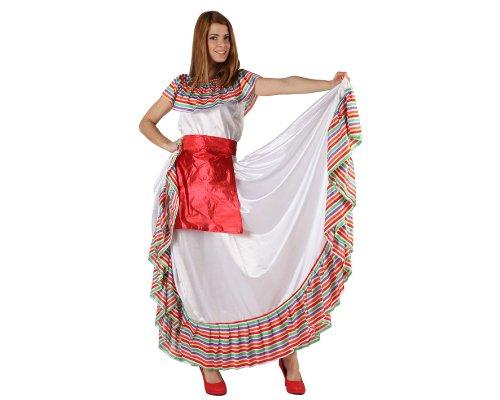 Atosa-19540 Disfraz Mejicana, multicolor, M-L (19540)