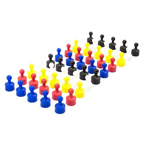 50 vollfarbige bunte Neodym Magnet-Pins/Push-Pins für Whiteboard, Kühlschrank