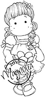 Magnolia Hoppy Easter Cling Stamp, 3.75 by 5.5-Inch, Tilda with a Flower in Her Hair