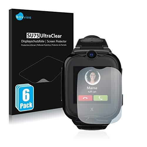 Savvies 6X Schutzfolie kompatibel mit Xplora Go 2 Bildschirmschutz-Folie Ultra-transparent