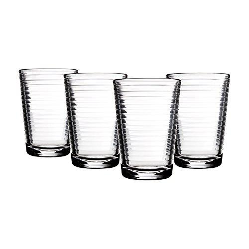 Home Essentials - Juego de 4 vasos de zumo solar (7oz (WSA-0