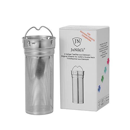Neu: JuNiki´s® eco line: Teesieb plastikfrei für losen Tee Edelstahl Teeei Filter groß und fein mit Henkel Teefilter für Teekanne Tasse Teeflasche