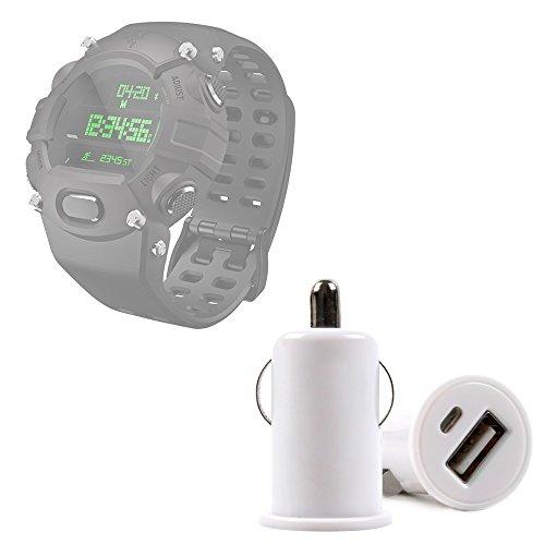 DURAGADGET Cargador Mechero del Coche con Puerto USB para Razer Nabu Watch/Sony Smartwatch 3 Classic - ¡No Se Quede Sin Batería Mientras Va Conduciendo!