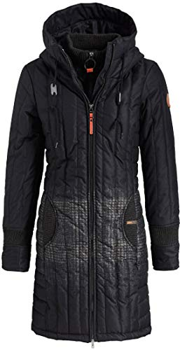 khujo Jerry Prime2 Jacket 1128JK183-HS8 Damen-Winterjacke Black Radient Print Gr. XS