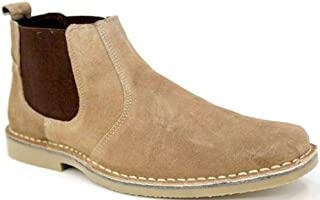 Roamers Mens M765 Taupe Suede New Mens Desert Boots Shoes