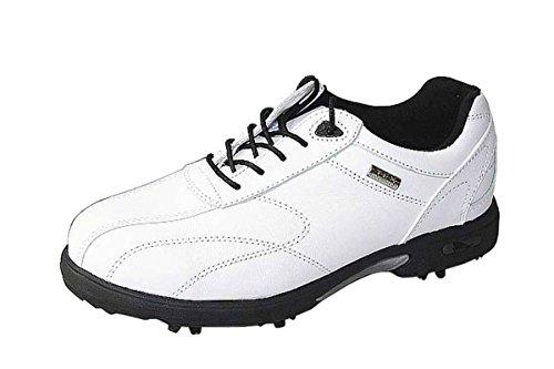 Crivit Golf Golfschuhe Nappaleder Leder verschiedene Farben, Farbe:weiß/schwarz;Schuhgröße:EUR 38