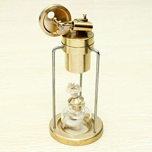 Feixunfan Stirlingmotor Modell Science Education Mini Live-Steam Engine Messing Stirling-Motor Physik Experimentierspielzeug (Color : Gold, Size : One Size)