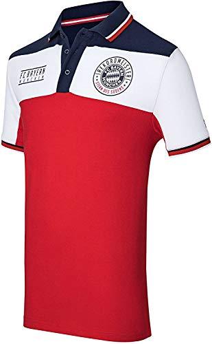 FC Bayern München Poloshirt Rekordmeister Tshirt, FCB, Shirt, T-Shirt (XXL)