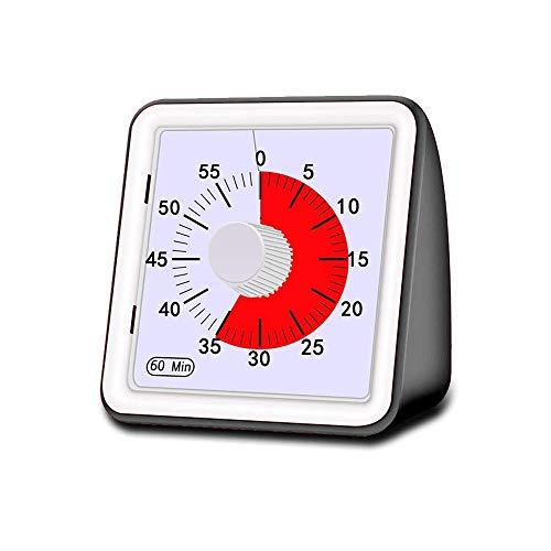 Porcyco Countdown für Kinder, leise, 60 Minuten, visueller Timer für die Küche