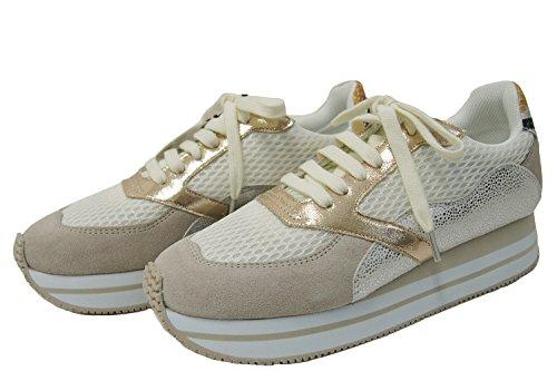 No Name – Sneaker – Eden Street – Weiß / goldfarben, Beige - beige - Größe: 39 EU