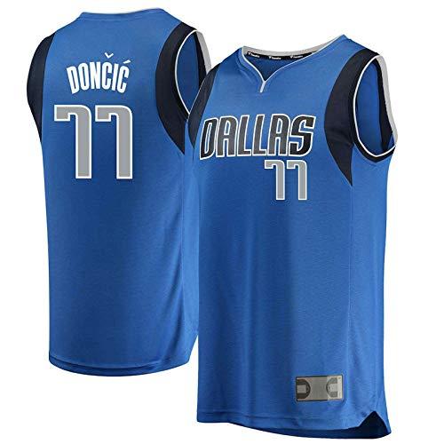 Camisetas de baloncesto para niños Luka Dallas NO.77 Navy.Mavericks Doncic Youth 2019/20 Fast Break réplica del jugador del equipo camiseta repetible de limpieza uniforme edición