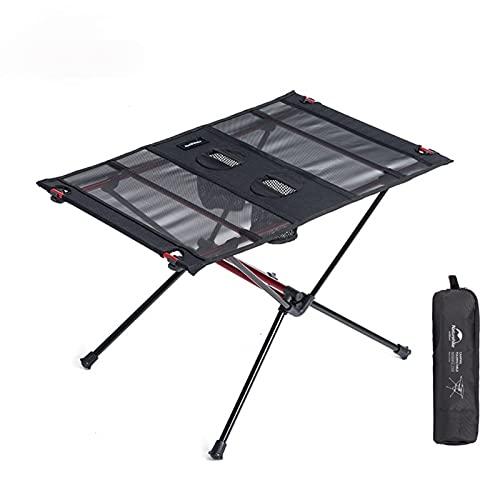 LIUZKH Mesa plegable de aluminio portátil enrollable al aire libre plegable para acampar al aire libre Patio Metal Mesa de picnic plegable