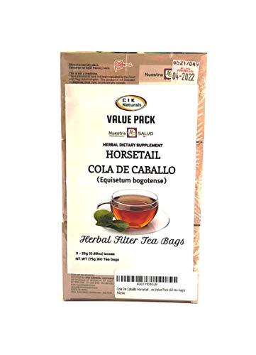 Horsetail Cola De Caballo Filter Tea Value Pack (60 tea bags)
