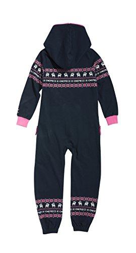 Onepiece Mädchen Bekleidungsset Jumpsuit Kids Folklore, Mehrfarbig (Midnight Blue/Pink) - 2