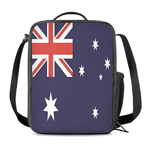 Bolsa Térmica Comida Bolsas de Almuerzo caja porta con Aislamiento Bolso de Mano Bandera de australia Impermeable Fiambrera Isotermica Aislado Térmico Organizador del Almuerzo
