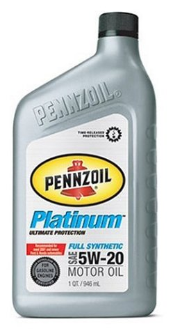 (Pennzoil Platinum Full Synthetic 5W20 Motor Oil - 1 Quart Bottle)