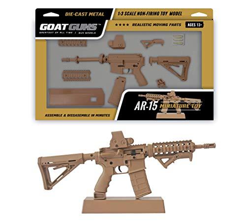 GoatGuns Miniature AR 15 Coyote Model Build Kit | 1:3 Scale Die Cast Model