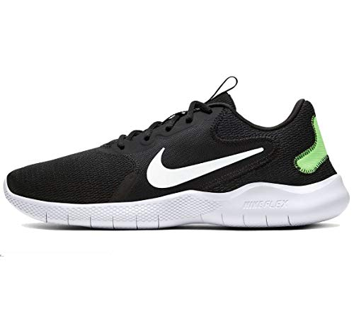 Nike Men's Flex Experience Run 9 Shoe, Black/White-Ghost Green-Iron Grey-Particle Grey-Violet Star, 11.5 Regular US