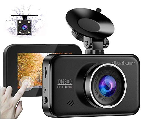 Denicer 2020 New Dual Car Dash Cam Front and Rear Full HD 1080P Camera...