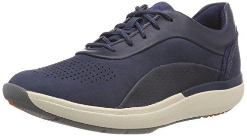 Clarks Un Cruise Lace, Zapatos de Cordones Derby para Mujer, Azul (Navy Combi), 39 EU