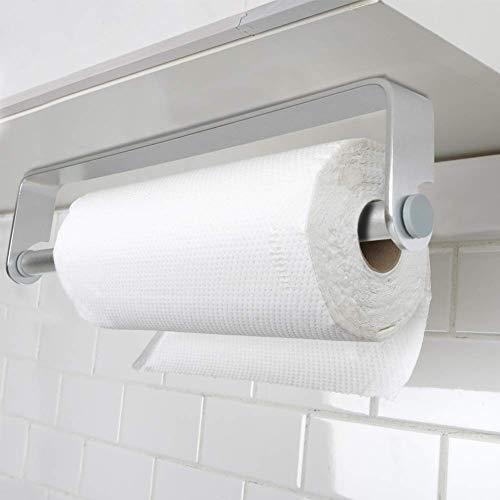 Küchenrollenhalter ohne Bohren, Bogeer Küchenpapierhalter Wandmontage Papierrollenhalter Aufbewahrung Organisator - Aluminium Material
