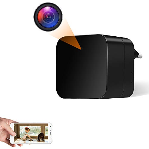 Telecamera Nascosta Spia WiFi Caricatore USB Spy Cam 1080P HD Microcamere Spia Rilevazione del Movimento Videocamera Controllo APP