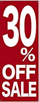 バナー 30% OFF SALE ポンジ No.69678 (受注生産)